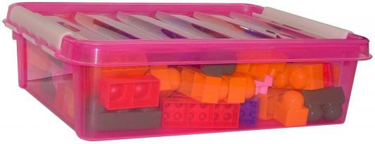 Купить Конструктор Полесье Супер-Микс 84 элемента 1243 в розовом контейнере