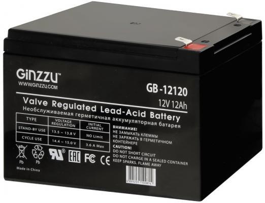 Батарея Ginzzu GB-12120 12V/12Ah батарея ginzzu gb 1245 12v 4 5ah