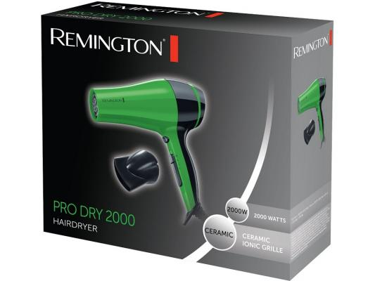 Фен Remington D3080G зелёный фен remington keratin therapy pro dryer ac8000 page 8