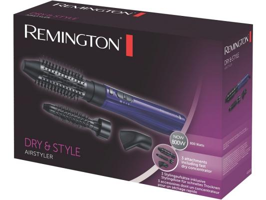 Фен-щетка Remington AS 800 800Вт черно-синий фен remington keratin therapy pro dryer ac8000