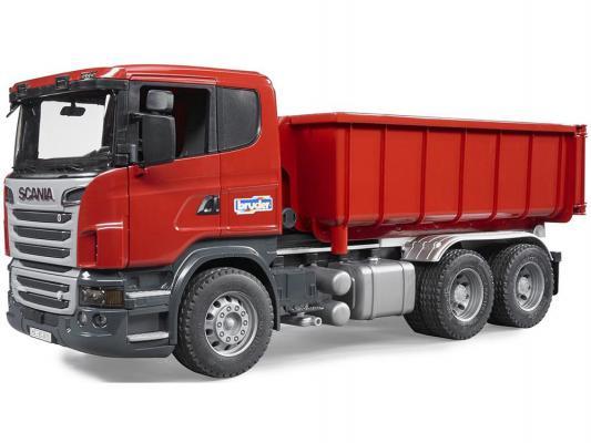 """Самосвал-контейнеровоз Bruder Scania (подходит модуль со звуком и светом """"H"""") красный 1 шт 53 см 03-522"""