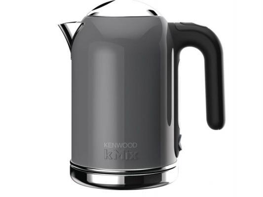 Чайник Kenwood SJM 020 GY 2200 серый 1 л металл/пластик чайник clatronic wks 3625 2200 вт фиолетовый 1 8 л металл