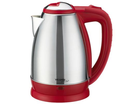 Чайник Viconte VC-3244 2000 Вт серебристый красный 2 л металл