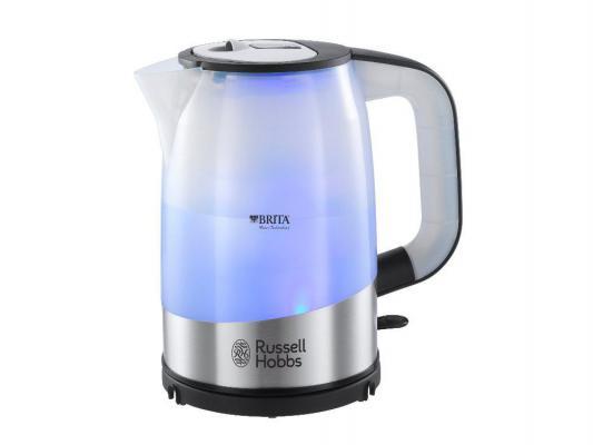 Чайник Russell Hobbs 18554-70 2200 серебристый 1 л металл/пластик чайник russell hobbs 18944 70 2200 вт 1 7 л нержавеющая сталь серый