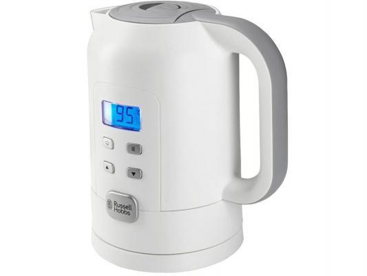 Чайник Russell Hobbs 21150-70 2200 белый серый 1.7 л пластик чайник russell hobbs 18944 70 2200 вт 1 7 л нержавеющая сталь серый