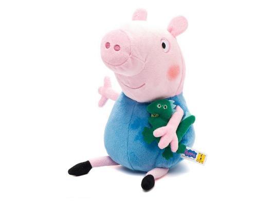 Мягкая игрушка свинка Peppa Pig Джордж с динозавром текстиль розовый 40 см 29626 мягкая игрушка peppa pig джордж с машинкой свинка розовый текстиль 18 см 29620