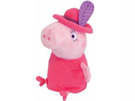 Мягкая игрушка свинка Peppa Pig Мама в шляпе текстиль розовый 30 см 29625 мягкая игрушка peppa pig джордж с машинкой свинка розовый текстиль 18 см 29620