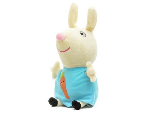 Купить Мягкая игрушка кролик Peppa Pig Ребекка с морковкой текстиль 20 см 29624