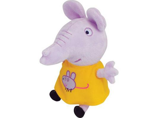 Мягкая игрушка слоненок Peppa Pig Эмили с мышкой текстиль сиреневый 20 см 29623 peppa pig транспорт 01565