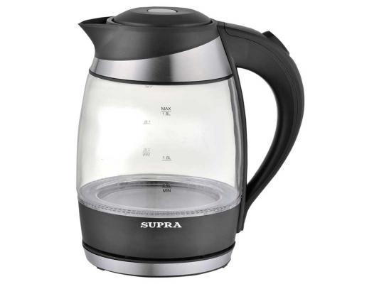 Чайник Supra KES-2009 2200 Вт чёрный 1.8 л пластик/стекло чайник supra kes 1721 2200 вт белый 1 7 л пластик