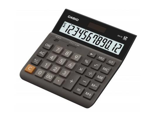 Калькулятор Casio DH-12-BK-S-EH 12-разрядный калькулятор casio dh 16 16 разрядный коричневый