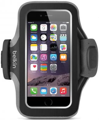 цена на Чехол Belkin Slim-Fit Plus Armband для iPhone 6 чёрный F8W499btC00