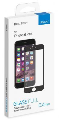 Защитное стекло белая Deppa 61970 для iPhone 6 Plus 0.4 мм