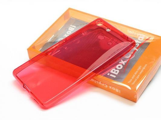 Чехол силикон iBox Crystal для Sony Xperia M5 красный аксессуар чехол накладка sony xperia m5 ibox crystal transparent