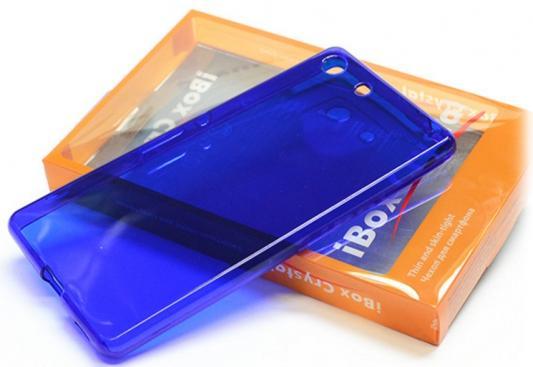Чехол силикон iBox Crystal для Sony Xperia M5 синий аксессуар чехол накладка sony xperia m5 ibox crystal transparent