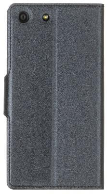 Чехол-книжка Red Line Book Type для Sony M5 лазерная фактура черный  Book Type