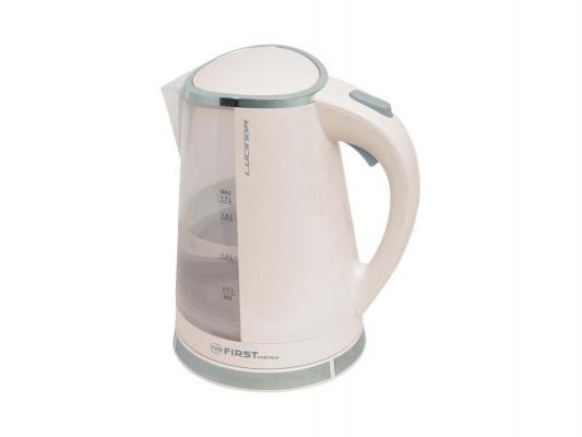 Чайник First 5417-2 2200 Вт белый 1.5 л пластик