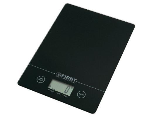 Весы кухонные First 6400 чёрный серебристый