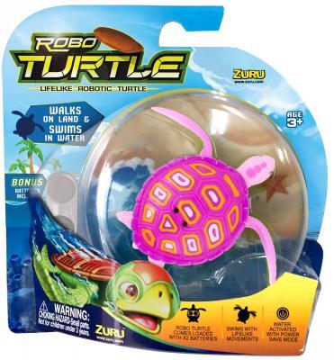 Интерактивная игрушка ZURU Робо-Черепашка от 4 лет розовый 25157E