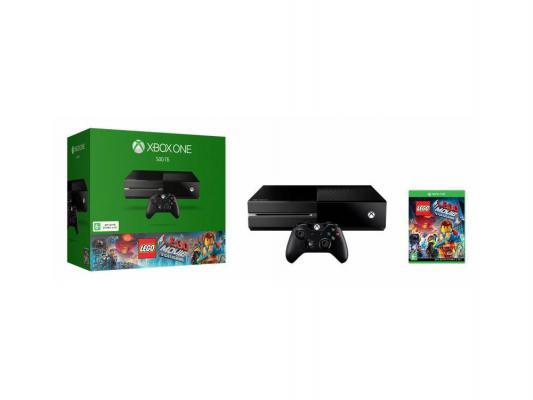 Игровая приставка Microsoft Xbox One 500Gb + игра Lego the Movie черный 5C7-00181