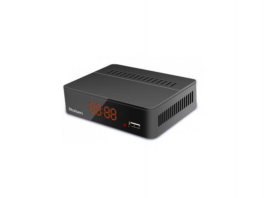 Тюнер цифровой DVB-T2 Rolsen RDB-524B черный