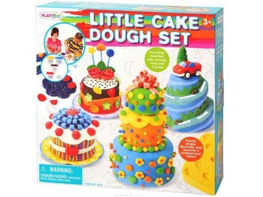 Набор для лепки Playgo Праздничный торт от 3 лет 8205 всё для лепки playgo набор с формами и инструментами