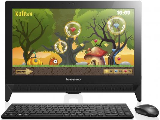 "Моноблок Lenovo IdeaCentre C20-30 19.5"" 1920x1080 3805U 1.9GHz 4Gb 500Gb GF820-2Gb DVD-RW Wi-Fi Win8.1 клавиатура мышь черный F0B200B8RK"