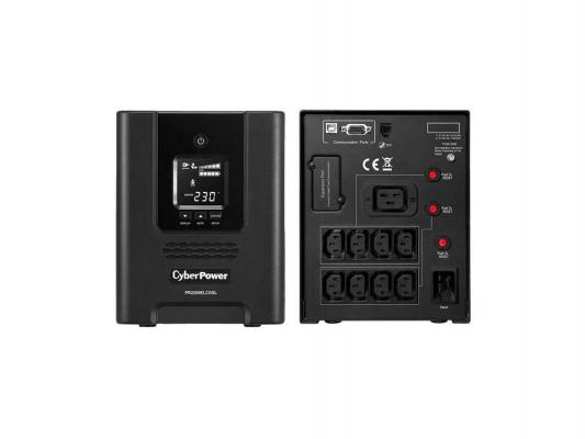 ИБП CyberPower 2200VA/1980W PR2200ELCDSL черный ибп cyberpower 650va 360w ut650ei черный