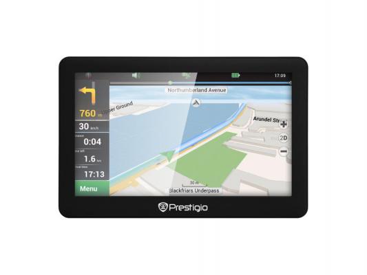 "Навигатор Prestigio GeoVision 5056 Навител 5"" 480х272 4GB 128MB microSD microSDHC черный"