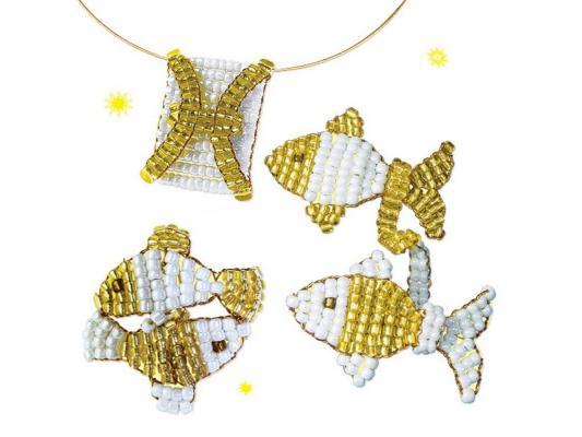 бусы из бисера со знаком задиаком рыбы