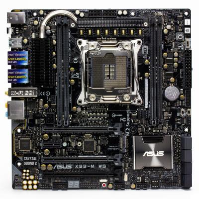 Мат. плата для ПК ASUS X99-M WS Socket 2011-3 X99 4xDDR4 3xPCI-E 16x 1xPCI-E 1x 8xSATAIII SSI CEB Retail
