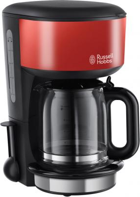 Кофеварка Russell Hobbs 20131-56 черный красный кухонный комбайн russell hobbs 19006 56 750вт красный