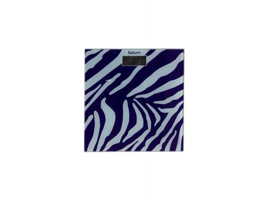 Весы напольные Saturn ST-PS 0282 Violet/White zebra фиолетовый белый