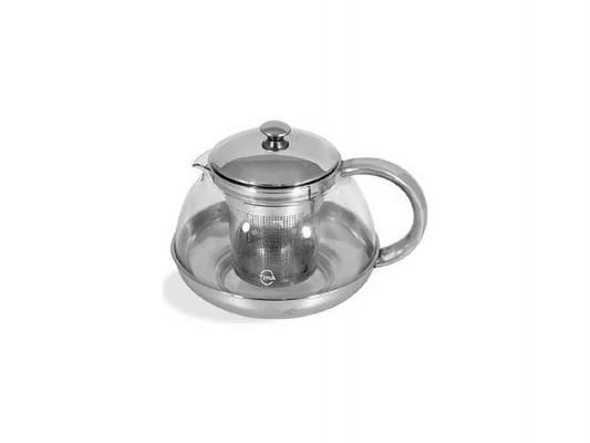 """Чайник заварочный Tima TL 750 """"Лотос"""" серебристый прозрачный 0.75 л металл/стекло"""
