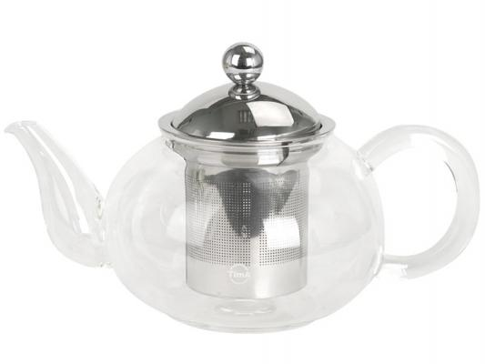 Чайник заварочный Tima Жасмин TG-1500 прозрачный 1.5 л стекло