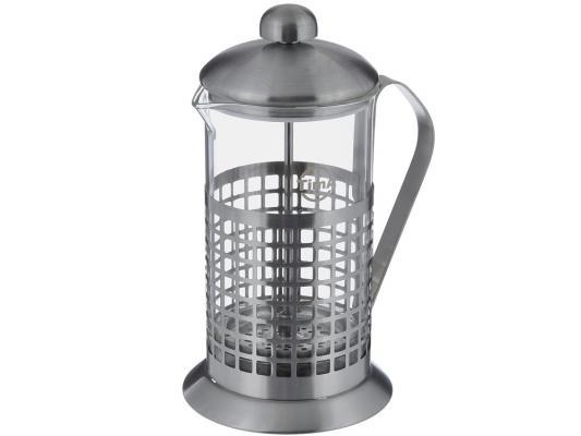 Френч-пресс Tima Бисквит PB-600 серебристый 0.6 л металл/стекло