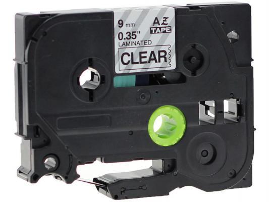Лента ламинирования Brother TZE121 9мм черный на прозрачном brother tze325 black white лента для матричного принтера 9 мм