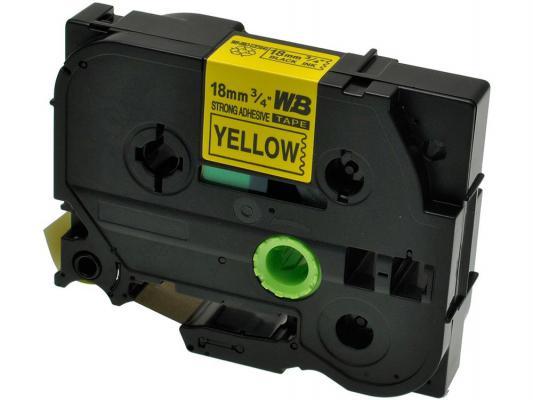 Лента ламинирования Brother TZE641 18мм черный на желтом лента ламинирования brother tz211 tze211 6мм для pt 1010 1280 1280vp 2700vp