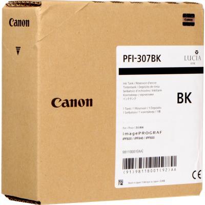 Картридж Canon PFI-307 BK для iPF830/840/850 черный 9811B001