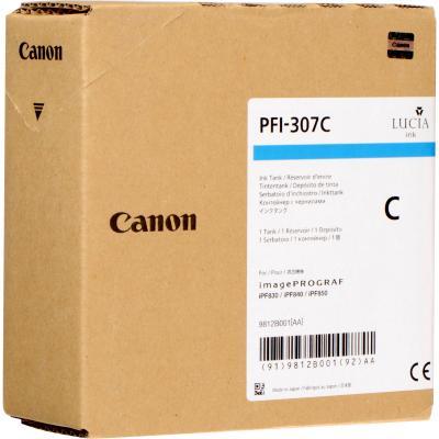 Картридж Canon PFI-307 C для iPF830/840/850 голубой 9812B001 картридж canon pfi 307 bk для ipf830 840 850 черный 9811b001