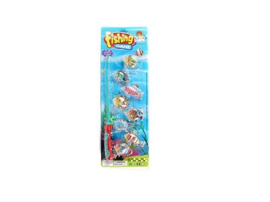 Магнитная игра Shantou Gepai Рыбалка, удочка и 8 рыбок 1023A игра shantou gepai утюг pink white 948