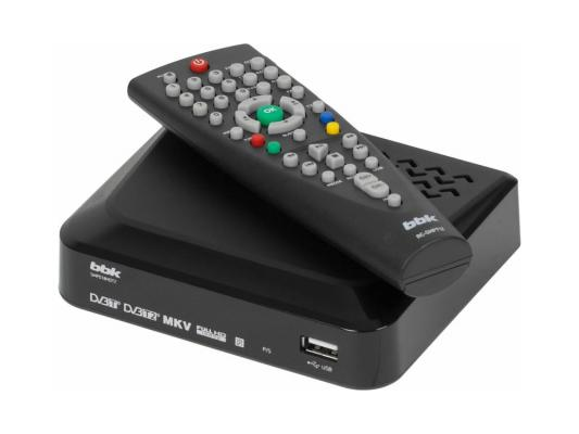 Тюнер цифровой DVB-T2 BBK SMP018HDT2 черный