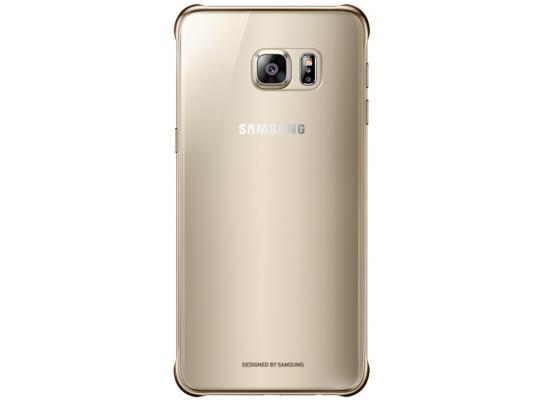 Чехол Samsung EF-QG928CFEGRU для Samsung Galaxy S6 Edge Plus ClearCover G928 золотистый прозрачный