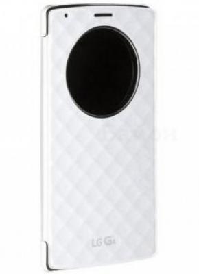Чехол LG CFR-100C.AGRAWH для LG G4 H818 QuickCircle белый оригинальный чехол quickcircle для lg g3 s