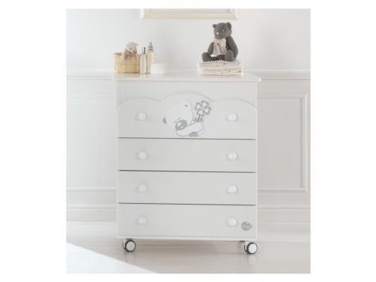 Комод пеленальный с ванночкой Baby Expert Serenata (белый) пеленальный комод с ванночкой baby expert bon bon duetto белый серый