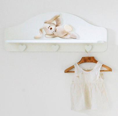 Вешалка-полка Baby Expert Cremino (белый) baby expert вешалка полка baby expert perla gold