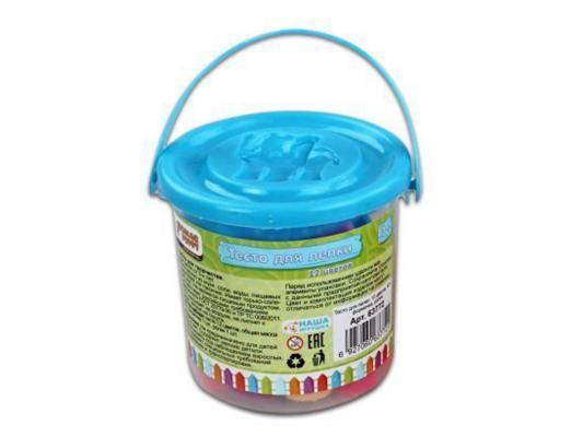 Тесто для лепки: 12 цветов, 80г, формочка, ролик Color Puppy 63772 всё для лепки color puppy тесто для лепки 26 цветов 442 г формы ролик