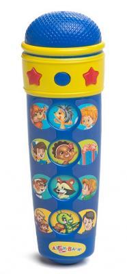 Интерактивная игрушка Азбукварик Микрофон песенки В.Шаинского от 3 лет синий 08013