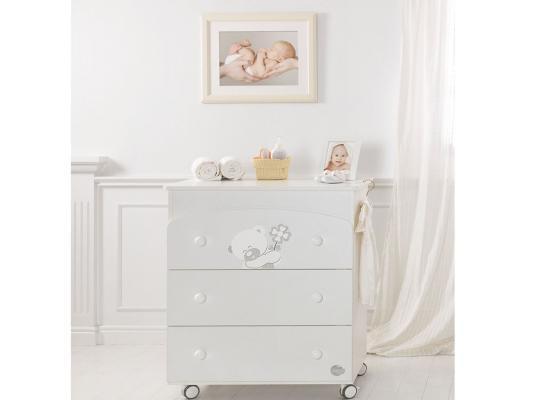 Комод пеленальный с ванночкой Baby Expert Mio (белый)
