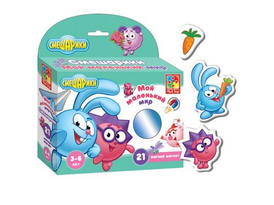 Магнитная игра Vladi toys развивающая Мой Маленький мир Смешарики Крош и Ёжик VT3103-02